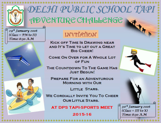 SPORTS DAY EINVITE DPS TAPI CLASS 2 B